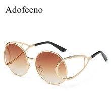 Adofeeno new mujeres diseñador de la marca de la vendimia gafas de sol redondas mujer retro gafas de sol redondas gafas de sol masculino gafas de mujer