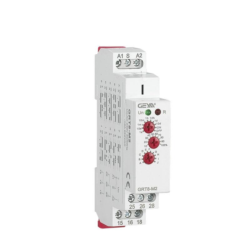 Multi-Funktion Din Schienen Automatische Timer Relais AC DC 12 V 24 V 220 V SPDT DPDT Control Schalter multifunktions Zeit Relais GRT8-M