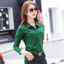 Women Polo Shirts With Velveteen Inside Thermal Long Sleeve M-4XL Plus Size Drop Shipping Accepted