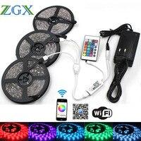 ZGX Wifi Controller RGB LED Strip 5050 ip 20 Waterdicht Decor flexibele 30 leds/m led tape diode string DC 12 V Power adapter set