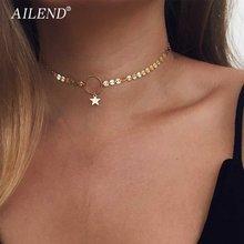 Vkme 2020 Новое модное золотое ожерелье чокер со звездами изящное