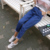 2016 Mais Novo Outono Harajuku Denim Calças Perna Larga Das Mulheres Do Vintage Plus Size Elástica Calça Jeans Boyfriend Solto Causal Femme Pantalon