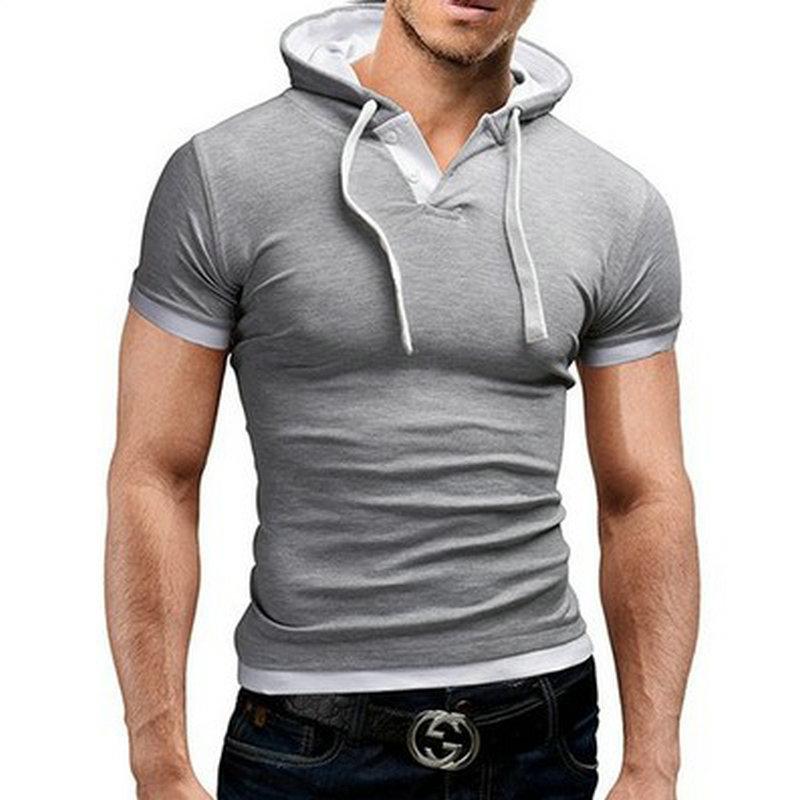 2018 Polo majica moški M-5XL Casual stil s kapuco Slim Fit poletje - Moška oblačila - Fotografija 4