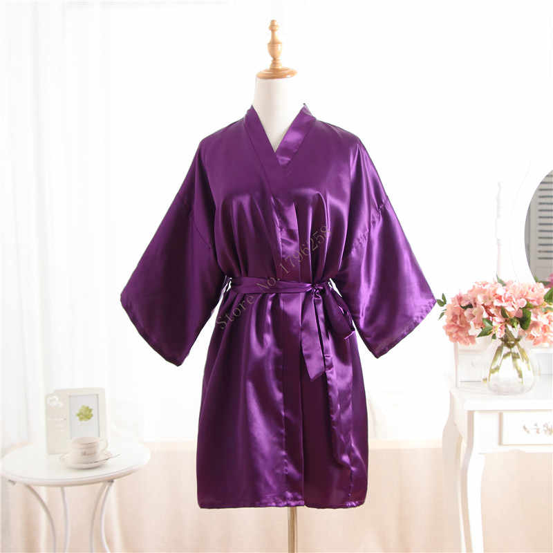 f6e7dbb72c Detail Feedback Questions about Hot Women robe Purple Silk Satin Robes  Wedding Bridesmaid Bride Gown kimono Solid robe One size fit S XXL on  Aliexpress.com ...