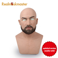 Realmaskmaster male latex realistic adult silicone full face mask for man cosplay party mask fetish real skin