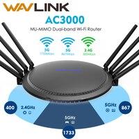 Wavlink AC3000 гигабит Wi Fi маршрутизатор беспроводной wifi расширитель диапазона wifi Усилитель сигнала Усилитель USB3.0 5 ГГц Поддержка