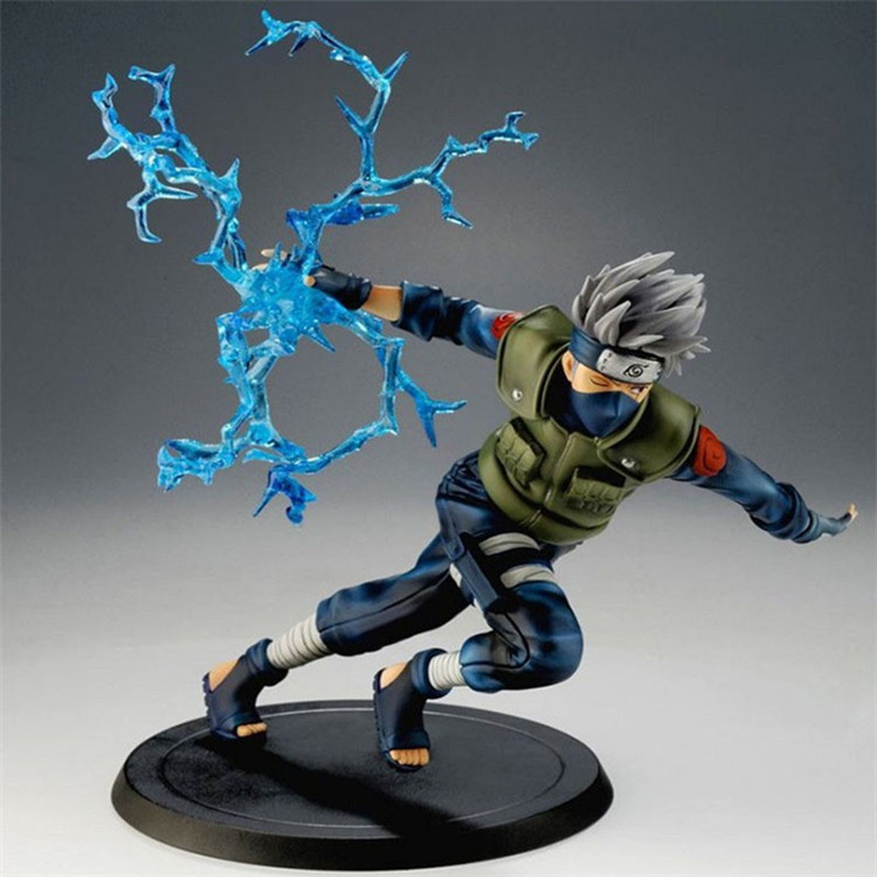 Naruto Action Figure Dolls Anime Naruto Kakashi Figure PVC Toys Model Decoration Collection Gift Toys For Children 22cm cool naruto kakashi sasuke action figure anime puppets figure pvc toys figure model table desk decoration accessories