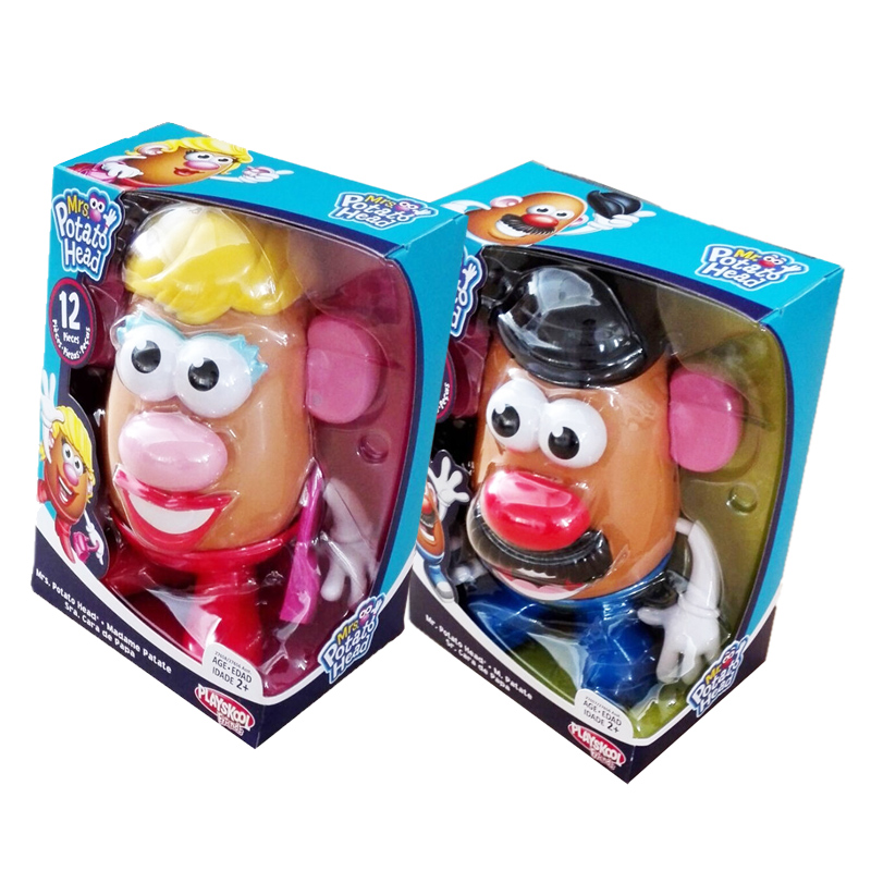 New edition Toy Story Mr & Mrs Potato Head Assembled building blocks dolls Toy Model mr froger carcharodon megalodon model giant tooth shark sphyrna aquatic creatures wild animals zoo modeling plastic sea lift toy