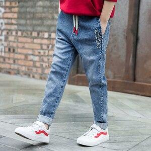 Image 3 - กางเกงยีนส์เด็กสบายๆฤดูใบไม้ผลิฤดูใบไม้ร่วงกางเกงยีนส์เด็กแฟชั่นวัยรุ่นกางเกงยีนส์อายุ 4 5 6 7 8 9 10 11 12 13 14 16 ปีเด็กเสื้อผ้าเด็ก