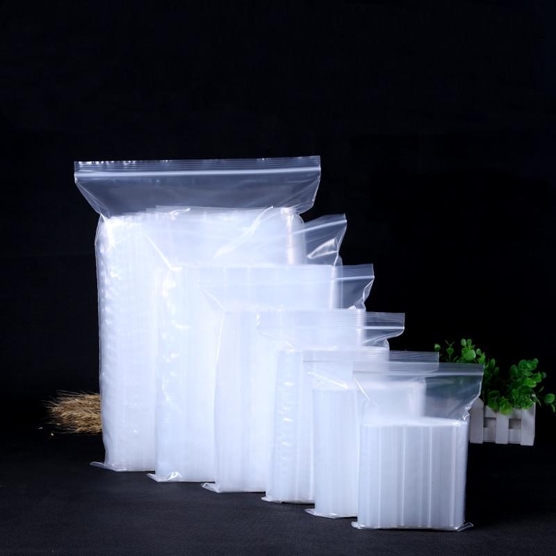 100pcs/lot 11 Sizes Zip Lock Baggies Plastic Packaging Bags 8C For Jewelry Small Plastic Zipper Bag Ziplock Packing Storage Bags