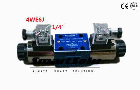 Free shipping Rc 1/4 4WE6J double-end rexroth solenoid AC 220V operated directional spool valves. , New in Box free shipping dsg 03 3c3 220v ac 1 4 solenoid operated directional control valve terminal box type plug in connector type