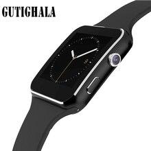 2018 Bluetooth X6 relogio reloj Relojes Homens Relógio Inteligente SIM Card TF Dispositivo Wearable Smartwatch Para Android Telefone inteligente