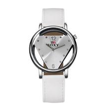 2018 Новый Лидер продаж бренд SOXY кожаный ремешок наручные часы Простой Стиль Для женщин кварцевые часы Мода Треугольники дизайнерские женские часы