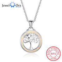 Tree Of Life Pendant Classic 925 Sterling Silver Opal Stone Necklace Pendants Best Women Gift Jewelry