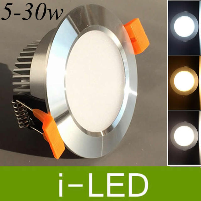 Cree Led Recessed Downlight Dimmable 5w 7w 9w 12w 15w 18w 24w 30w Fixture Lights Lamp Natural White Ac90 260v 120angle Ce Ul In Downlights
