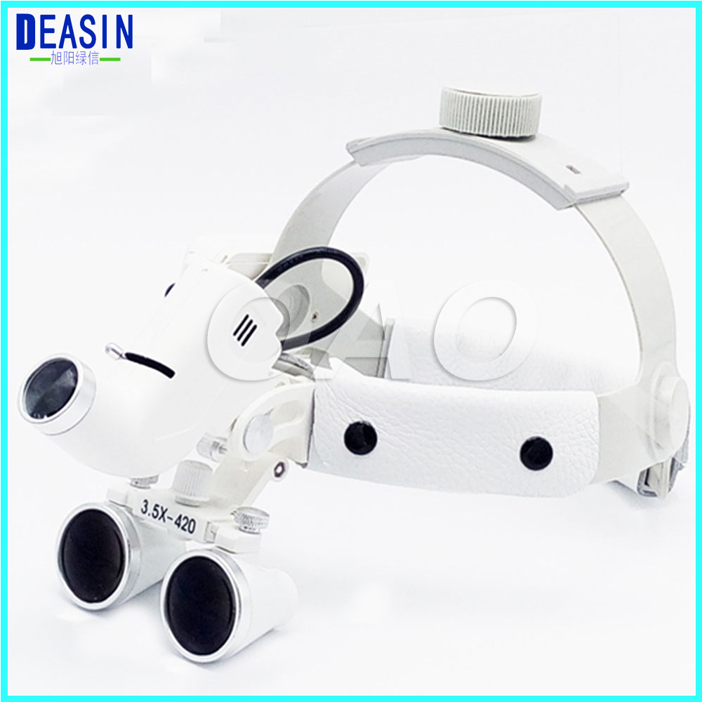 Good Quality Surgical Head Light dental Lamp All-in-Ones Headlight with loupes 3.5X Dental Loupes hot sale 2 5x medical magnifier all in ones operation lamp surgical headlight and dental loupes