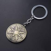 SG Dark Souls Keychains Abyss Walker Solaire of Astora Knight Badge Pendant Keyring  Artorias Sword Car Men Cosplay Jewelry Gift