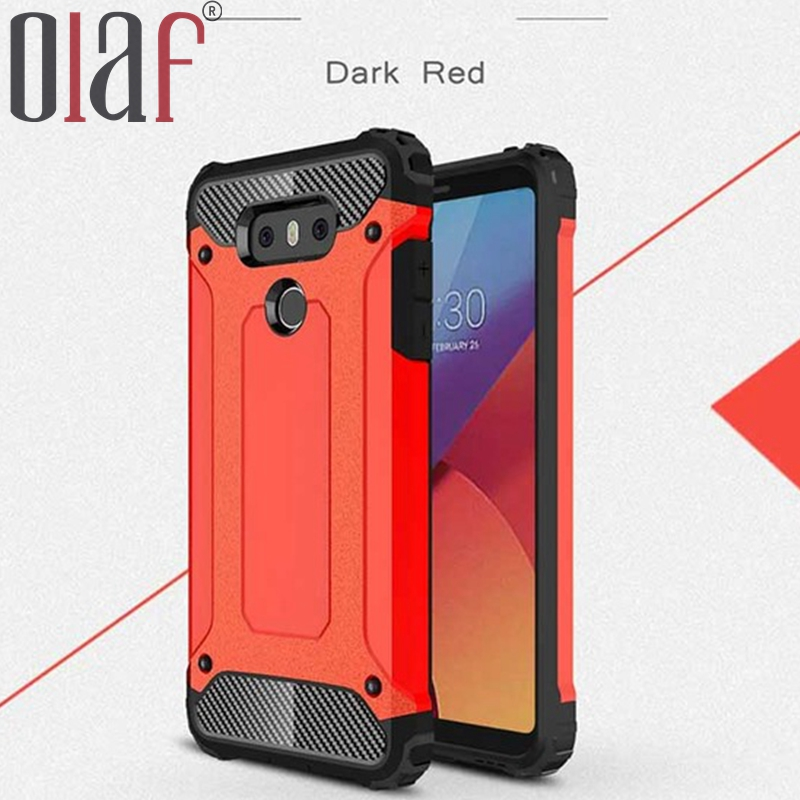 Olaf Red Phone case Double Protective TPU Armor Phone case for LG G6 G 6 Shock Proof Cover case for LG Mobile phone coque