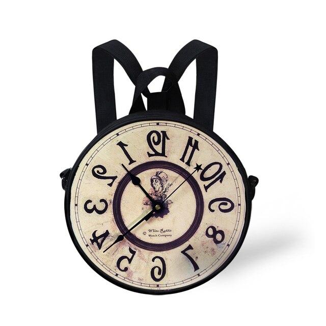 Дети Школьные Сумки Небольшой Bookbag Для Девочек Небольшой Рюкзак Путешествия Сумки Детский Сад Ранцы Mochila Infantil Круглые Часы Форма