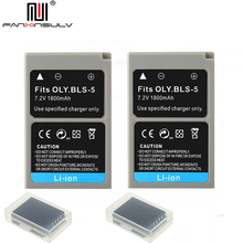 2Pcs PS-BLS5 BLS-5 BLS5 BLS-50 Battery for Olympus PEN EPL2 EPL3 EPL5 EPL6 EPL7 EPL8 EPL9 EPM2 OMD EM10 II III Stylus1 S tracked