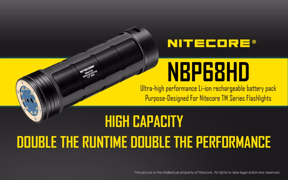 1 pc nitecore NBP68HD 4 8 built in 3400 mAh 18650 batteries for TM15 TM26 TM36 TM28 in Portable Lighting Accessories from Lights Lighting