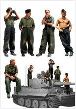 [Tuskmodelo] 1 35 escala resina modelo figuras kit ww2 grande conjunto alemão panzer tripulação