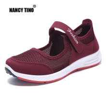 NANCY TINO Women Platform Athletic Shoe Breathable Air Non-slip Soft Sole Flat Sneakers For Ladies Outdoor Sport Walking Shoes