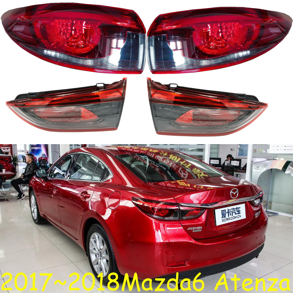 1pcs bumper lamp For Mazda 6 TailLight fit for sedan car 2017~2018year Mazda6 atenza TailLight Rear Lamp
