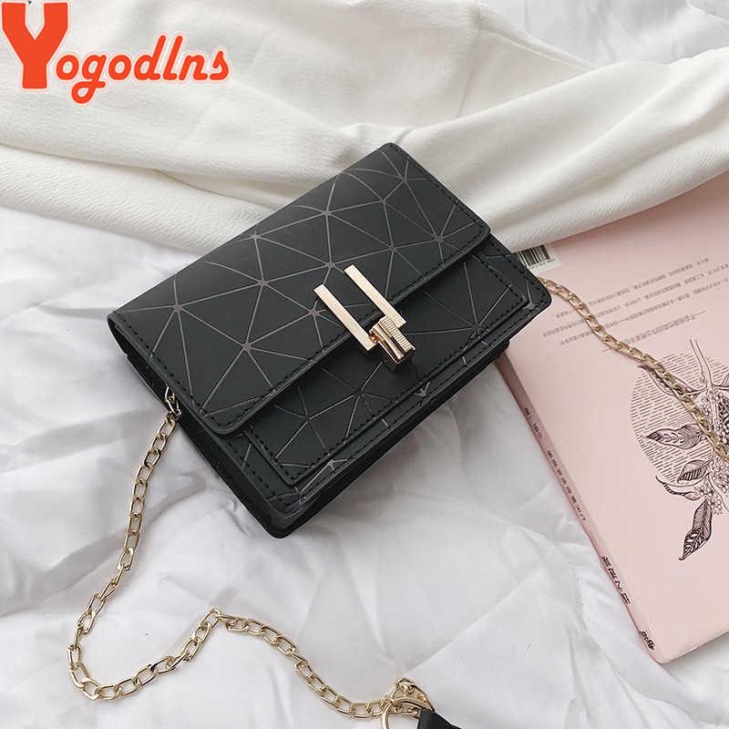 Yogodlns Baru Musim Panas Wanita Tas Desainer Rantai Tas Mini Wanita Messenger Tas untuk Wanita Tas Bahu Kecil Kunci Penutup