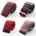 New Fashion Male Brand Slim Designer Mens Knitted Neck Ties Cravate Narrow Skinny Neckties For Men