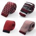 Nueva Moda Masculina de la Marca de Diseño Delgado Para Hombre de Punto Cravate Corbata Flaca Estrecha Corbatas Para Los Hombres