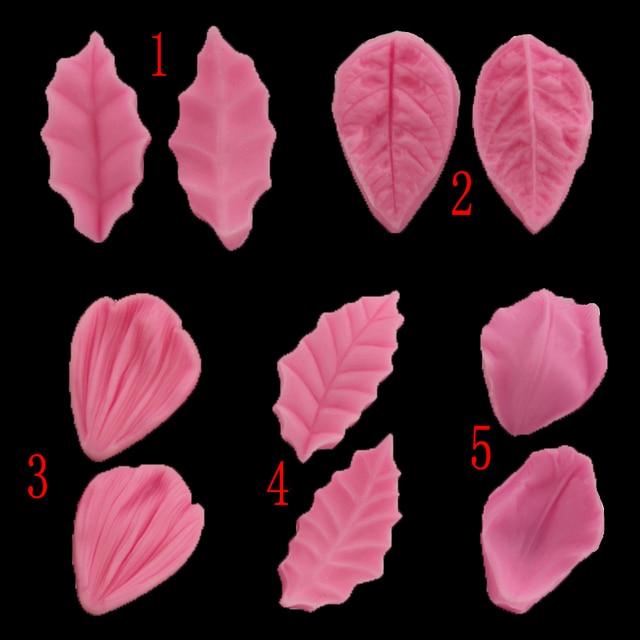 Folhas Diy Modelo de Resina de Silicone Bolo Moldes Decorativos Lobular Projeto Clipe Doces Bolo Fondant Ferramentas de Cozimento Da Cozinha Decorativo