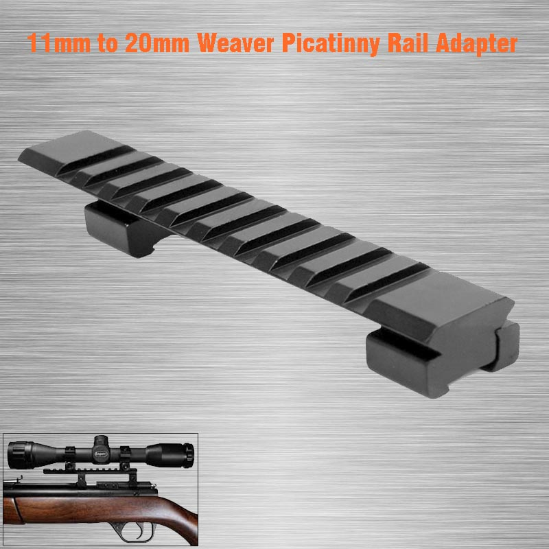 Hunting Dovetail 11mm to 20mm Weaver Picatinny Rail Adapter with 10 Slots and 125mm Length Hunting Rifle/Air Gun weaver каталог weaver