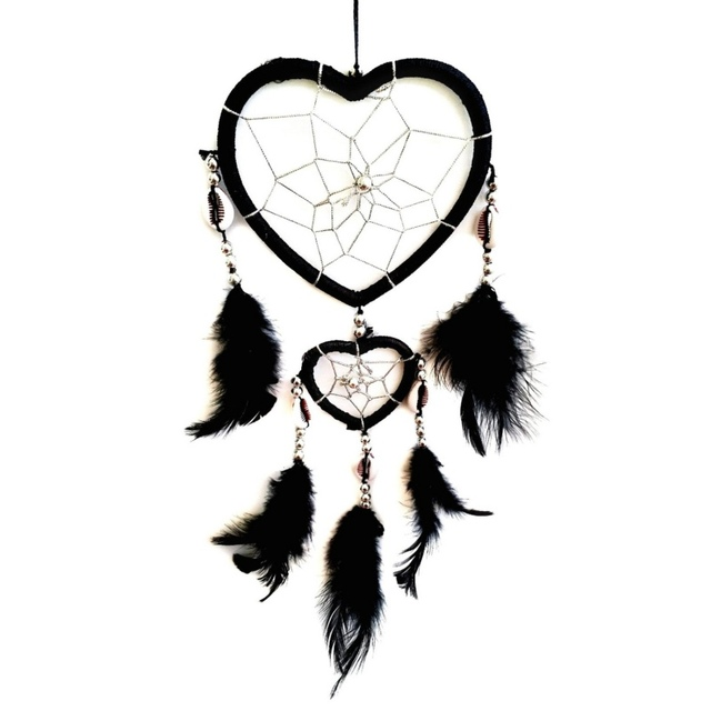 2017 Fashion Hot New Design Circular Heart Shape Feathers Wall