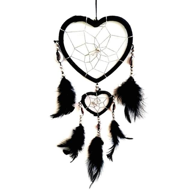 2017 Fashion Hot New Design Circular Heart Shape Feathers Wall