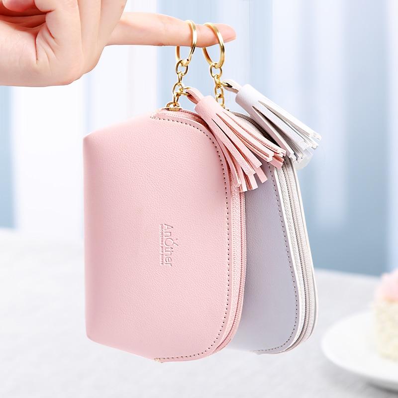 APP BLOG Brand Cute Women's Wallet Coin Purse New Arrival 2017 Fashion Flower Mini Small Leather Female Key Card Bag Keychain 4