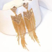 Charmcci Rhinestone Vintage Tassel Earrings Drop Earring Quality For Women Luxury Jewelry Long Dangle