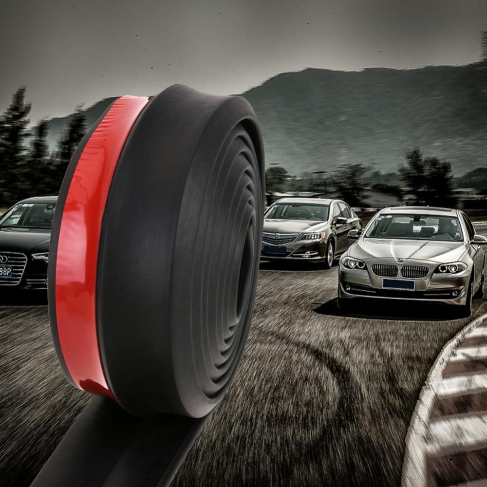 2,5 mt/8.2ft Auto styling Auto Stoßstange Streifen Gummipuffer Streifen Breite Außen Front Lip Auto Aufkleber Protector hohe Qualität