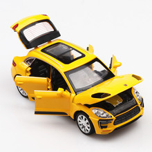 цены 1:32 Scale Car Model Diecast Metal Wheels Toy Vehicle Alloy Model Simulation Sound Light Door Pull Back Car Toys For Boys Gift