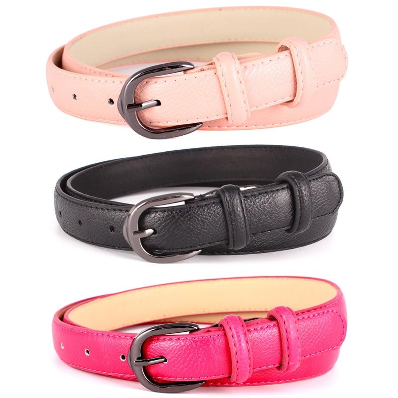 Badinka 2018 New Simple Cute Black White Gold Red Skinny Thin Waistband Belt Female Faux PU Leather Waist Belts for Women Dress
