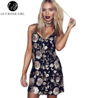 Save 19.99 on Deep V Neck Floral Sequin Black Sexy Dress Women Mini Christmas Evening Party Girls Dress Strap Night Club Dresses Vestidos 2016