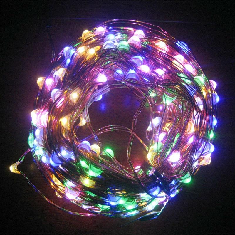 Dc 24v 50m 500led copper wire warm white white rgb led string light starry lights power