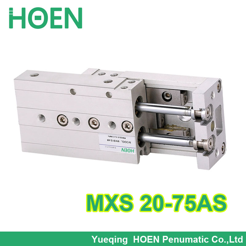 MXS20-75 MXS series Cylinder MXS20-75AS Air Slide Table Double Acting 20mm bore 75mm stroke Accept custom MXS20*75 smc type air slide table cylinder mxs20 30as double acting