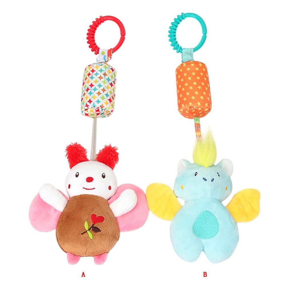 Infant Toys Mobile Baby Plush Toy Bed Wind Chimes Rattles Bell Toy Baby Crib Bed Hanging Bells Toys infant toys plush bed wind chimes crib hanging bells mechanical music box mobile bed bell toy holder
