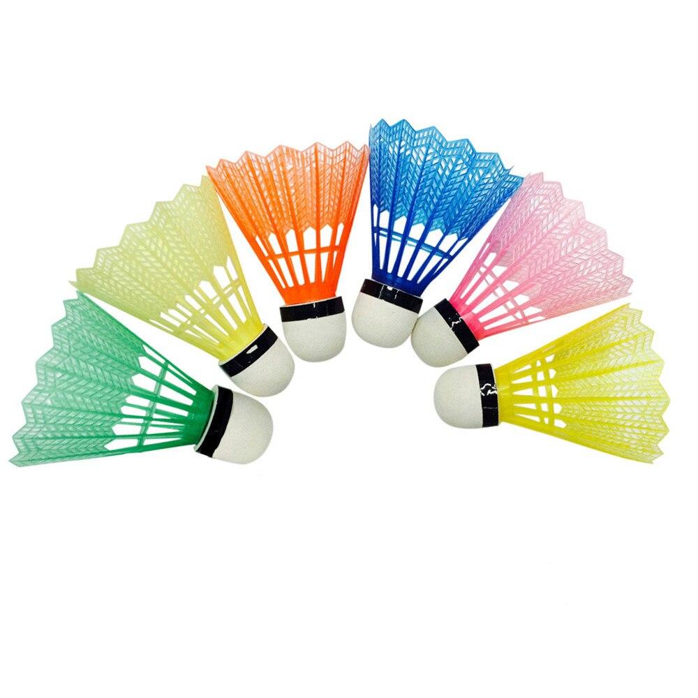 18 Badminton Shuttlecocks Training Exercise Nylon Ball Game Sport Birdies Colors
