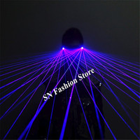GP04 Purple laser light glasses dj party stage show wears laser man projector club bar performance disco ballroom dance costumes