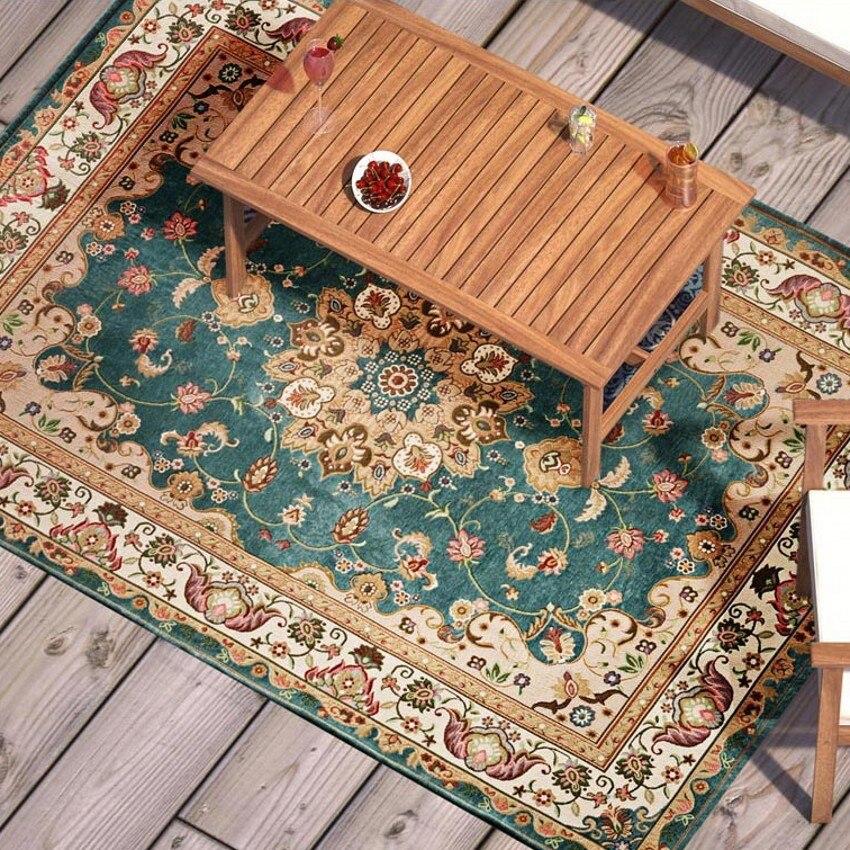 레트로 스타일 클래식 카펫 큰 크기 거실 커피 테이블 카펫, 사각형 지상 매트, 페르시아어 가정 장식 매트-에서카펫부터 홈 & 가든 의  그룹 2