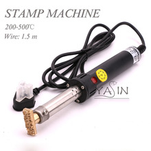 500W Elektrische Soldeerbout Hot Stamping Machine Manual Hot Foil Stempel Druk Embossing Machine Lederen Logo Branding 220V
