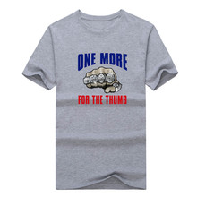 Tom Brady one more for the thumb Patriots 2016 SUPER BOWL LI CHAMPIONS T-shirt 100% cotton fans New England T Shirt 0207-1