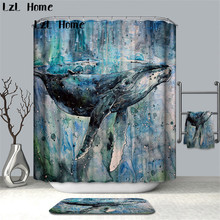 LzL Home Full of Artistic Pattern Shower Curtains Digital Printing Polyester Bathroom Curtains Waterproof Mildewproof Curtains beige polyester flannel europe embroidered blackout curtains for living room bedroom window tulle curtains home hotel villa